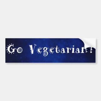 Gehen Autoaufkleber vegetarischer