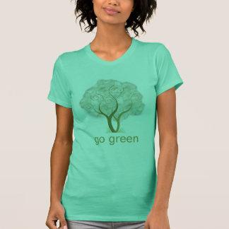 Gehen Baum-Grafik grüne T-Shirt