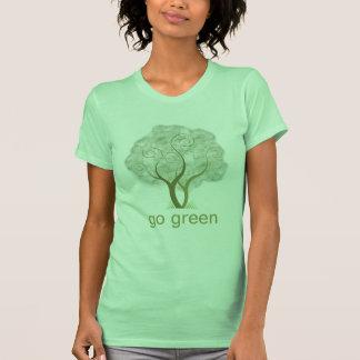 Gehen Baum-Grafik grüne T-Shirts