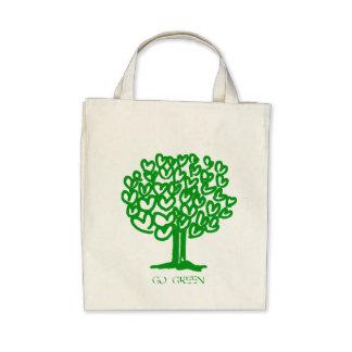 Gehen Bio Lebensmittelgeschäft-Taschen-Tasche grün