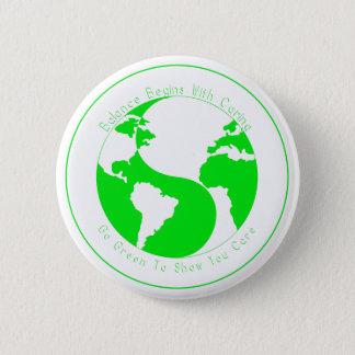 Gehen das Grün, zum Ihnen von Sorgfalt zu zeigen Runder Button 5,1 Cm