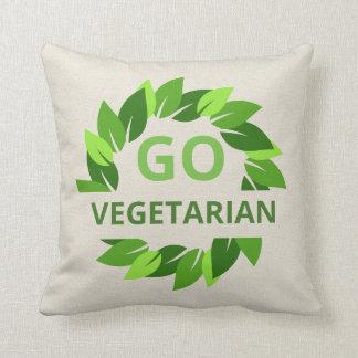 Gehen der Vegetarier, vegan, Veganism-Grün-Blätter Kissen