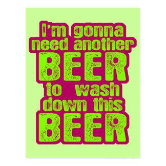 Gehen, ein anderes Bier zu benötigen Postkarte