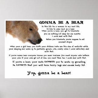 Gehen, ein Bär zu sein Plakat