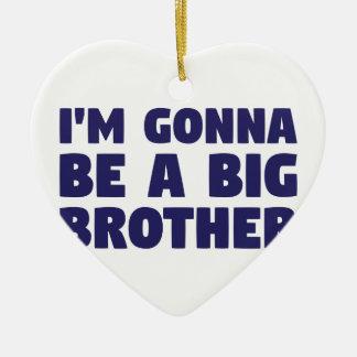 Gehen, ein großer Bruder zu sein Keramik Ornament