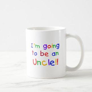 Gehen, ein Text Onkel-Primärfarben zu sein Kaffeetasse