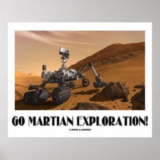 Gehen erforschung Mars! (Mars-Vagabund-Neugier) Poster
