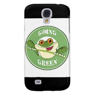 Gehen Frosch grüner Galaxy S4 Hülle