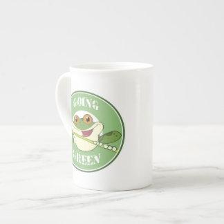 Gehen Frosch grüner Porzellantasse