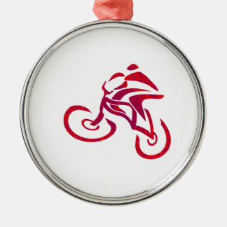 Gehen Geschwindigkeits-Rennläufer gehen… Silbernes Ornament