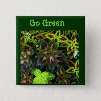 Gehen Green_ Quadratischer Button 5,1 Cm
