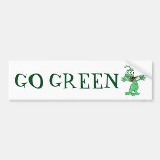 Gehen Grün - alienmonster Autoaufkleber