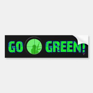 Gehen Grün! Autoaufkleber