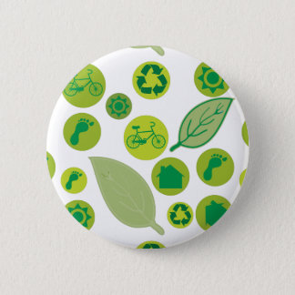 Gehen Grün besonders anfertigen Produkt Runder Button 5,7 Cm