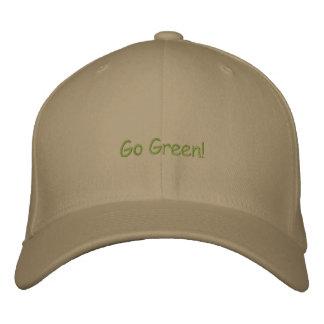 Gehen Grün! Bestickte Baseballkappe