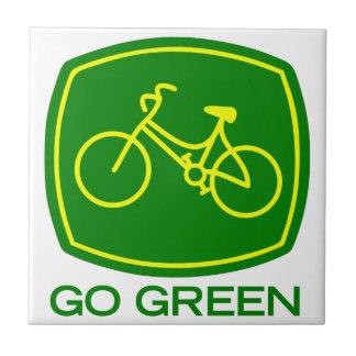 Gehen Grün Fliese