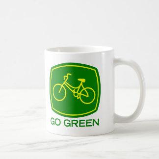 Gehen Grün Kaffeetasse
