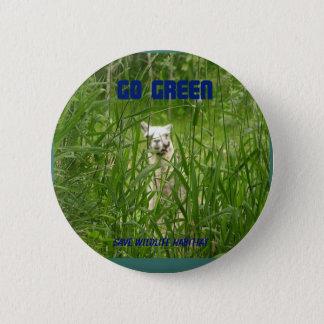 Gehen Grün, Knopf Runder Button 5,7 Cm