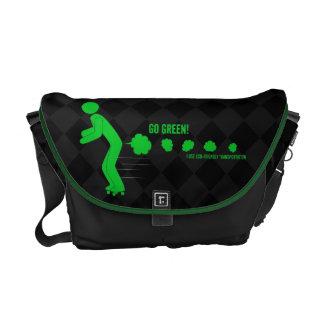 Gehen Grün Kurier Tasche