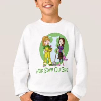 Gehen Grün mit kleinem Finger und Erdnuss Sweatshirt