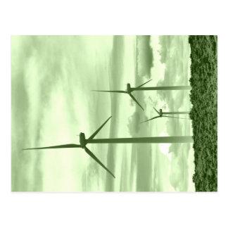 Gehen Grün mit windenergie Postkarte