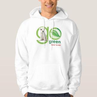 Gehen Grün retten Leben mit Kapuze Sweatshirt