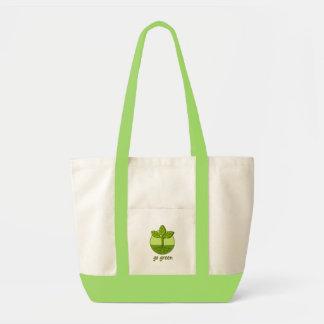 Gehen Grün Einkaufstasche