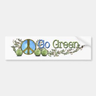 Gehen Grün! - Weltfrieden-Autoaufkleber Autoaufkleber
