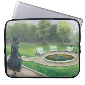 Gehen in den Garten - grüner Park mit Blumen Laptopschutzhülle