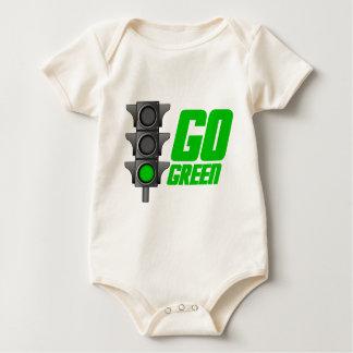 Gehen Licht grünes Baby Strampler