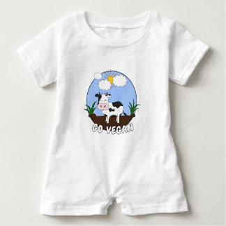 Gehen - niedliche Kuh vegan Baby Strampler