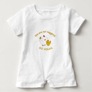 Gehen - niedliches Küken vegan Baby Strampler