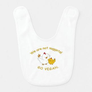 Gehen - niedliches Küken vegan Babylätzchen