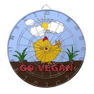 Gehen - niedliches Küken vegan Dartscheibe