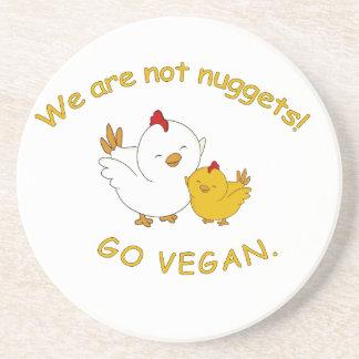 Gehen - niedliches Küken vegan Getränkeuntersetzer