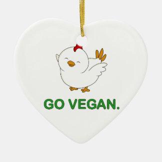 Gehen - niedliches Küken vegan Keramik Ornament