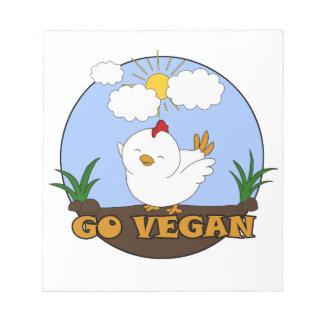 Gehen - niedliches Küken vegan Notizblock