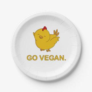Gehen - niedliches Küken vegan Pappteller