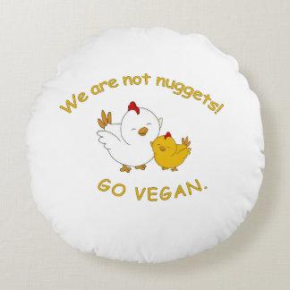 Gehen - niedliches Küken vegan Rundes Kissen