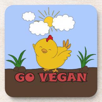 Gehen - niedliches Küken vegan Untersetzer