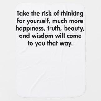Gehen Sie das Risiko des Denkens für selbst Puckdecke