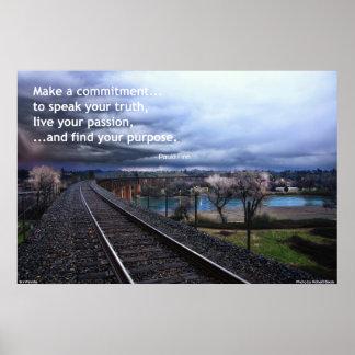 Gehen Sie eine Verpflichtung… ein, um Ihre Poster