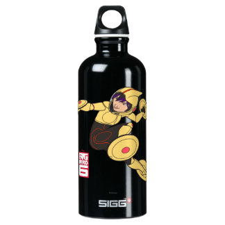 Gehen Sie gehen Tomago gelber Anzug Wasserflasche