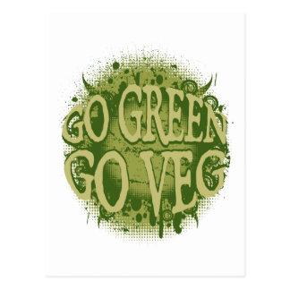 Gehen Sie grün gehen Sie Veg Postkarten