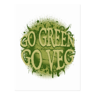 Gehen Sie grün, gehen Sie Veg Postkarten