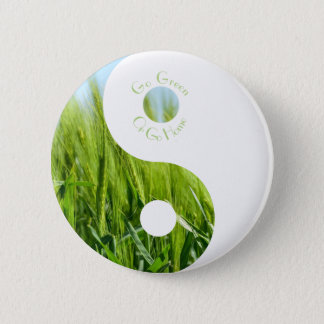 Gehen Sie grün oder gehen Sie Zuhause-Knopf Runder Button 5,1 Cm