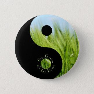 Gehen Sie grün oder gehen Sie Zuhause-Knopf Runder Button 5,7 Cm