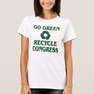 Gehen Sie grün - recyceln Sie Kongreß T-Shirt