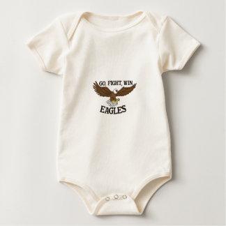 Gehen Sie, kämpfen Sie, gewinnen Sie Eagles Baby Strampler