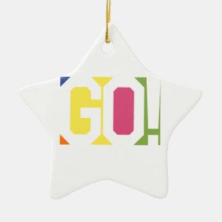 GEHEN Sie! Keramik Stern-Ornament